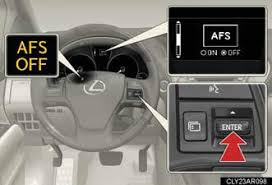 lexus rx 350 warning lights headlight switch operating the lights and windshield wipers when