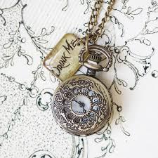 pendant pocket watch necklace images Drink me we 39 re all mad here pocket watch necklace by regalrose jpg