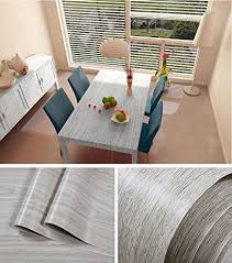 vinyl paper for kitchen cabinets amazon com faux gray wood grain contact paper vinyl self adhesive