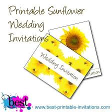 Sunflower Wedding Invitations Sunflower Wedding Invitations