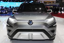 renault suv concept ssangyong showcases its xavl mid size suv concept and 2017 korando