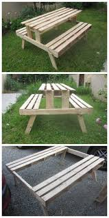 Best Wood To Make Picnic Table by Best 25 Pallet Picnic Tables Ideas On Pinterest Picnic Tables