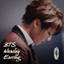 bts earrings bts weasley one touch earrings kpop style made in korea hot item