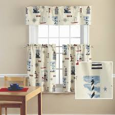 Lighthouse Curtains Bathroom by Mainstays Lighthouse Printed Valance And Kitchen Curtains Set