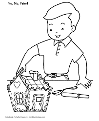 christmas party coloring pages tasty gingerbread house christmas