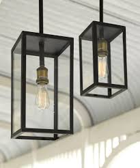 Antique Outdoor Lights by Southampton 1 Light Small Exterior Pendant In Antique Black