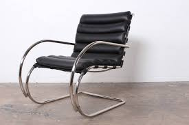 Knoll Rocking Chair Pair Of Mr Lounge Chairs By Mies Van Der Rohe For Knoll For Sale