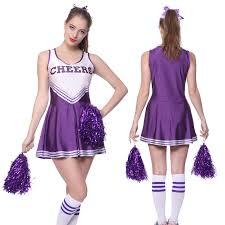 halloween costume cheerleader high musical cheerleader uniform costume w 2