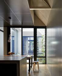 architecture architecture adds courtyard into dark horse extension