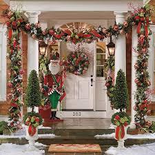 ideas para decorar columnas en navidad green decoration