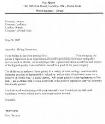 Create Resume For Job by Example Of Cover Letter For Job My Document Blog
