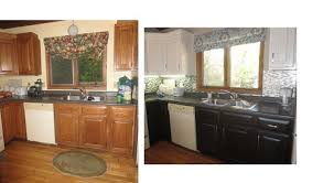 kitchen cabinet with top and bottom kitchen cabinets stain bottom paint top