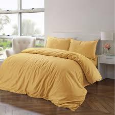 cotton linen duvet cover set plain design breathable quality