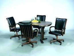 dinette table and chairs with casters dining table with caster chairs dining table with caster chairs