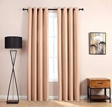 Amazoncom LOFT store 52x63 Blackout Curtains Beige 1 Panel Room