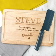personalised cutting board personalised engraved chopping board hardtofind