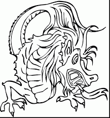 impressive chinese dragon coloring page with chinese dragon