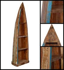 Canoe Shaped Bookshelf Buy Eugene Bookshelf In Distress Finish By Bohemiana Online