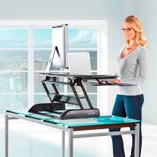 Standing To Sitting Desk Stand Up Desks Adjustable Height Gas Easy Lift Standing