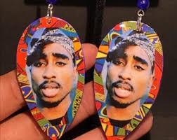 tupac earrings tupac earrings etsy