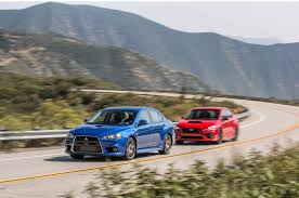 the end of a rivalry mitsubishi lancer evolution mr and subaru