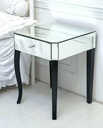 glass side tables for bedroom side table mirror side tables full size of glass mirrored bedside
