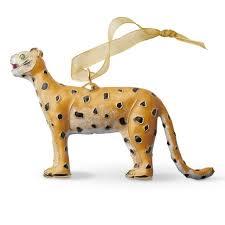 cloisonne ornament leopard williams sonoma
