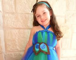 Child Peacock Halloween Costume Peacock Tutu Dress Etsy