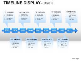 roadmap timeline display style 6 powerpoint presentation templates