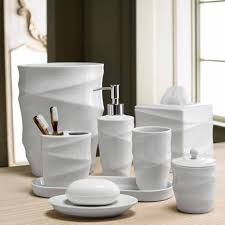 Bathroom Collections Sets Modern Line Bath Accessory Collection Overstock Shopping The