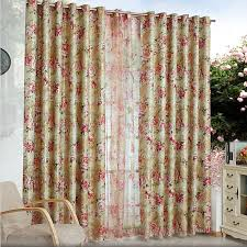 exqusite sheer floral curtains for living room