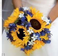 sunflower wedding bouquet wedding dress sunflower wedding bouquet