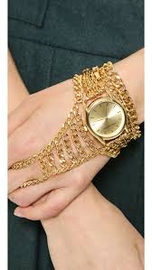 bracelet design watches images Lyst sara designs magnetic hand chain watch gold in metallic jpeg