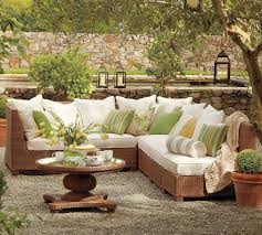 Pottery Barn Living Room Ideas by Pottery Barn Outdoor Green And Beige Furniture Interior Design