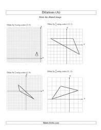 dilations worksheet 8th grade free worksheets library download