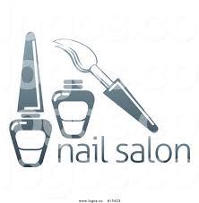 royalty free vector logo of a dark blue brush and nail polish