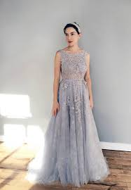 blue wedding dress gray blue lace wedding dress
