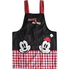 tablier cuisine femme bodecin noir mignon mickey minnie souris japonais cuisine tablier