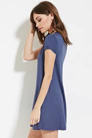 forever 21 a line t shirt dress in blue lyst