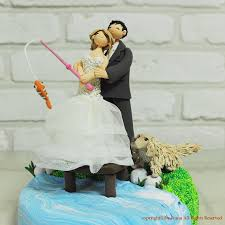 fishing wedding cake toppers wedding cakes lake fishing theme wedding cake topper 2282481