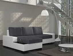canape d angle bicolore canapé d angle bicolore avec couchage et coffre de rangement