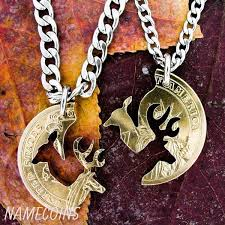 buck and doe couples necklace buck and doe necklaces namecoins