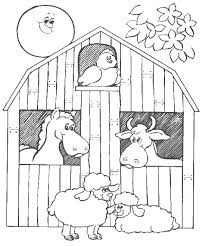 big red barn coloring pages barn animals colouring pages these