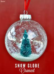 snow globe ornaments diy tutorial darice globe ornament and snow