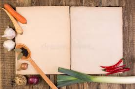 cookery book on wooden background stock image image of food