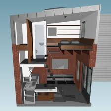 Micro Studio Plan 160 Square Foot Micro Apartment In A Tiny Brick House
