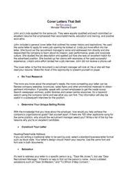 Sample Resume For Government Position by Smartness Inspiration Examples Of Good Cover Letters 14 Government
