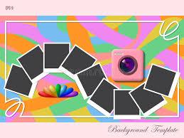 photo album cover template stock illustration image 75218254