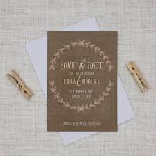 Rustic Save The Date Cards Save The Dates For Your Wedding