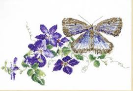blue morpho cross stitch pattern by ink circles